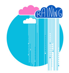 rain clouds background color flat style vector image
