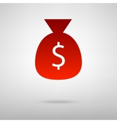 Red icon with shadow vector image vector image