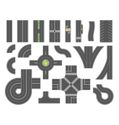 Road map toolkit - set of modern city vector