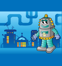Robot theme image 3 vector