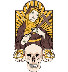 saint tattoo vector image vector image