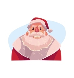 Santa Claus face angry facial expression vector