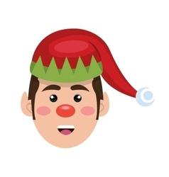Santa helper cartoon vector