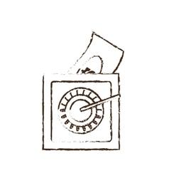 Save box money cash bills sketch vector