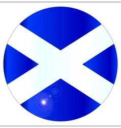Scotish Flag Button vector