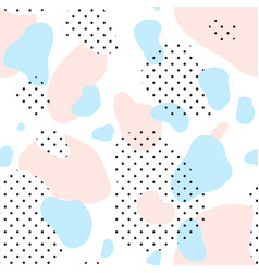 seamless pattern of pink dotted and blue spots vector image