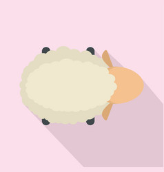 Sheep air view icon flat style vector