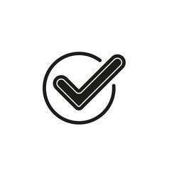 simple check icon vector image