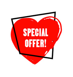 special offer grunge style vector image