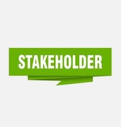 Stakeholder vector