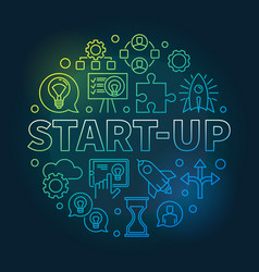 Start-up circular colored in vector