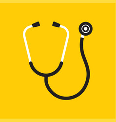 stethoscope icon phonendoscope vector image