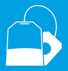 Teabag icon white vector