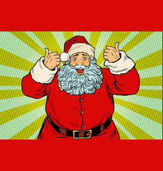 thumb up happy santa claus vector image