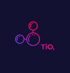 Titanium dioxide molecule linear icon vector
