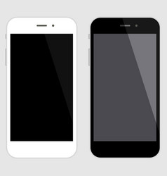 touchscreen smartphone set black and white vector image