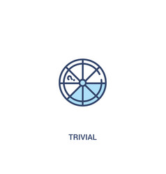 Trivial concept 2 colored icon simple line vector