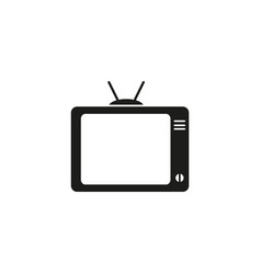 tv watch black icon vector image