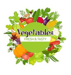 vegetables harvest autumn organic food farming vector image