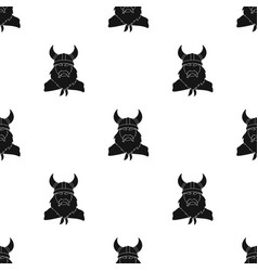 Viking icon in black style isolated on white vector