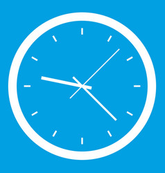 Wall clock icon white vector