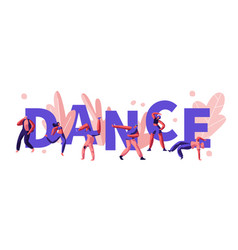 young men and women characters dancing vector image