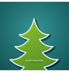 Modern christmas tree background vector