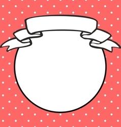 Photo frame on polka dots pink background vector image vector image