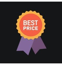 Best price guarantee label icon vector image