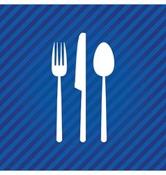 blue menu vector image vector image