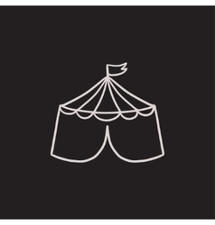 Circus tent sketch icon vector image