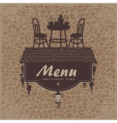 menu furniture vector image vector image