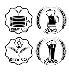 set of beer emblems vector image