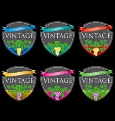wine labels31 vector image vector image