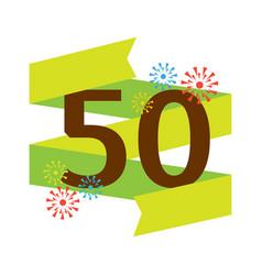 Birthday fifties badge banner design flat vector