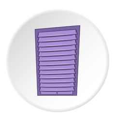 Blinds icon cartoon style vector image