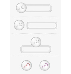 buttons with magnifying glass vector image