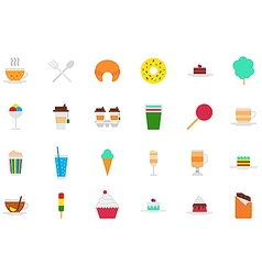 Cafeteria food icons set vector image