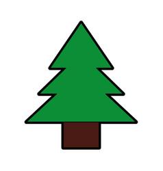 cute green tree cartoon vector image