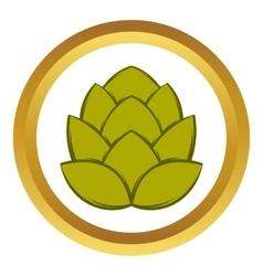 Hop cone icon cartoon style vector image