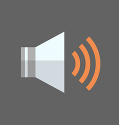 music player icon audio listening app button vector image vector image