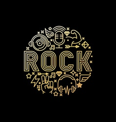 rock music concept vector image