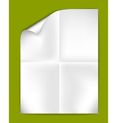 sheet of folded paper vector image vector image