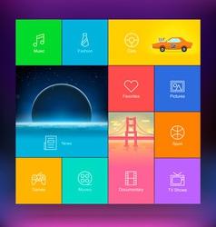 Flat Design User Interface Template vector image