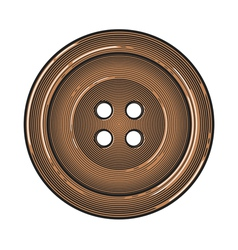 Sewing button in vintage engraving style vector image vector image