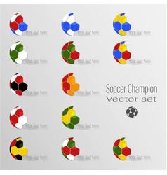 soccer world champion set vector image