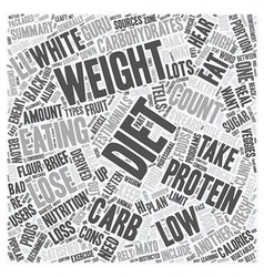 The Low Down On Diet Comparison text background vector image