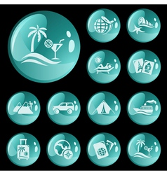 Vacation buttons vector image vector image