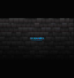 3d squares tech dark gray abstract background vector