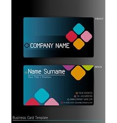 A business card template vector